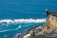 EL Morro - San Juan - Porto Rico della fortificazione Fotografia Stock Libera da Diritti
