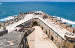 EL Morro - San Juan - Porto Rico della fortificazione Immagine Stock Libera da Diritti