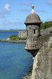 EL Morro, San Juan velho Puerto Rico Imagens de Stock Royalty Free