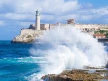 EL morro Schloss in Havana lizenzfreie stockbilder