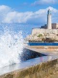 EL morro Schloss in Havana Lizenzfreies Stockfoto