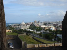 El Morro view, Puerto Rico, Caribbean. View from El Morro out to old San Juan Puerto Rico Stock Image