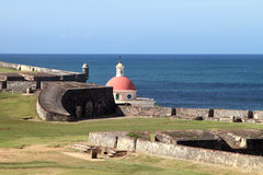 EL Morro - vista do leste Imagem de Stock Royalty Free