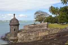 El-morroen och parkerar, San Juan, Puerto Rico Royaltyfri Foto
