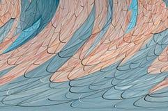 El mosaico abstracto de la rejilla de la curva colorea el fondo de las ondas, plantillas creativas del diseño imagen de archivo