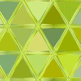 El mosaico de los triángulos en cal colorea amarillo y verde ilustración del vector