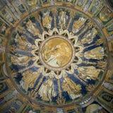 El mosaico del techo del bautisterio del neón Ravena, Italia Fotografía de archivo