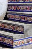 El mosaico embaldosó pasos de progresión en Mazatlan México Foto de archivo libre de regalías