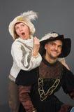 El mosquetero y su musa Foto de archivo libre de regalías