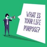 El mostrar de la muestra del texto cuál es su vida Purposequestion Los objetivos personales de la determinación de la foto concep libre illustration