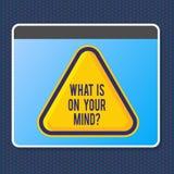 El mostrar de la muestra del texto cuál está en su Mindquestion La foto conceptual de mente abierta piensa en la innovación intel libre illustration