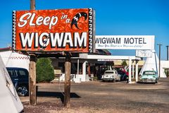 El motel de la tienda india, Holbrook fotos de archivo