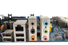 El motheboard del ordenador Imagen de archivo libre de regalías