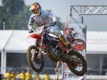 El motocrós MXGP, EMX y MX2 compite con durante el campeonato italiano 2017 del mundo de MXGP en Ottobiano Circu Imagen de archivo