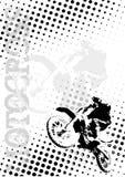 El motocrós puntea el fondo del cartel ilustración del vector