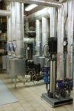 El motor con la calefacción de la bomba y de vapor Fotos de archivo libres de regalías