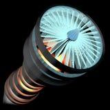 El motor de avión estilizado 3D rinde Fotografía de archivo