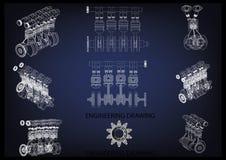 El motor de coche fotos de archivo