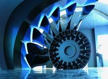 El motor del aeroplano   Imagen de archivo libre de regalías