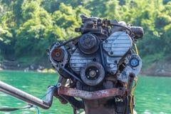 El motor del barco de la cola larga Foto de archivo libre de regalías