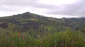 El Mountain View de un condado en Italia almacen de video