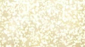 El movimiento abstracto empañó el fondo con las luces del bokeh que caían, partículas chispeantes Animación festiva de HD almacen de metraje de vídeo