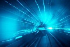 El movimiento ayuna en túnel imagen de archivo
