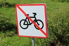 El movimiento de bicicletas se prohíbe Imágenes de archivo libres de regalías