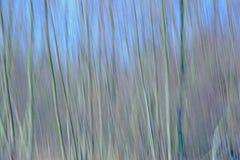 El movimiento del extracto empañó el fondo con las líneas verticales en tintes azules claros fotografía de archivo