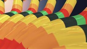 El movimiento dinámico suave del arte de los tubos que agita de los tubos del lazo de la animación calidad inconsútil colorida almacen de video