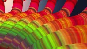 El movimiento dinámico suave del arte de los tubos que agita de los tubos del lazo de la animación calidad inconsútil colorida metrajes