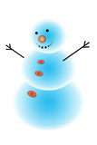 El muñeco de nieve Fotos de archivo libres de regalías
