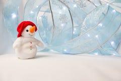 El muñeco de nieve feliz Fotografía de archivo