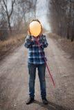 El muchacho alegre con un globo Fotografía de archivo