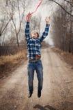 El muchacho alegre con un globo Fotografía de archivo libre de regalías