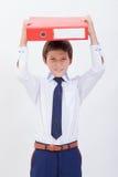 El muchacho con las carpetas Fotos de archivo