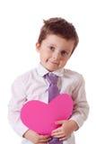 El muchacho de la tarjeta del día de San Valentín Imágenes de archivo libres de regalías