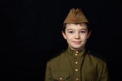 El muchacho del soldado Imágenes de archivo libres de regalías
