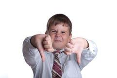 El muchacho descontento Fotos de archivo