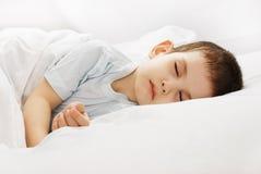 El muchacho durmiente Foto de archivo