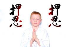 Niño del karate Fotos de archivo libres de regalías