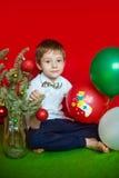 El muchacho en una máscara del tigre Año Nuevo Foto de archivo libre de regalías