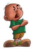 El muchacho enfadado ilustración del vector