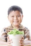 El muchacho es feliz. Foto de archivo libre de regalías