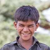 El muchacho indio asistió al camello anual Mela de Pushkar Imágenes de archivo libres de regalías