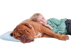 El muchacho va a dormir Foto de archivo libre de regalías