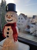 El muñeco de nieve Imagen de archivo libre de regalías