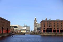El muelle de Albert en Liverpool Foto de archivo