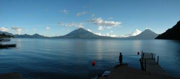 EL Muelle del desde di Atitlan fotografia stock libera da diritti