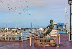 El muelle del pescador de la bahía de Monterey Imagenes de archivo